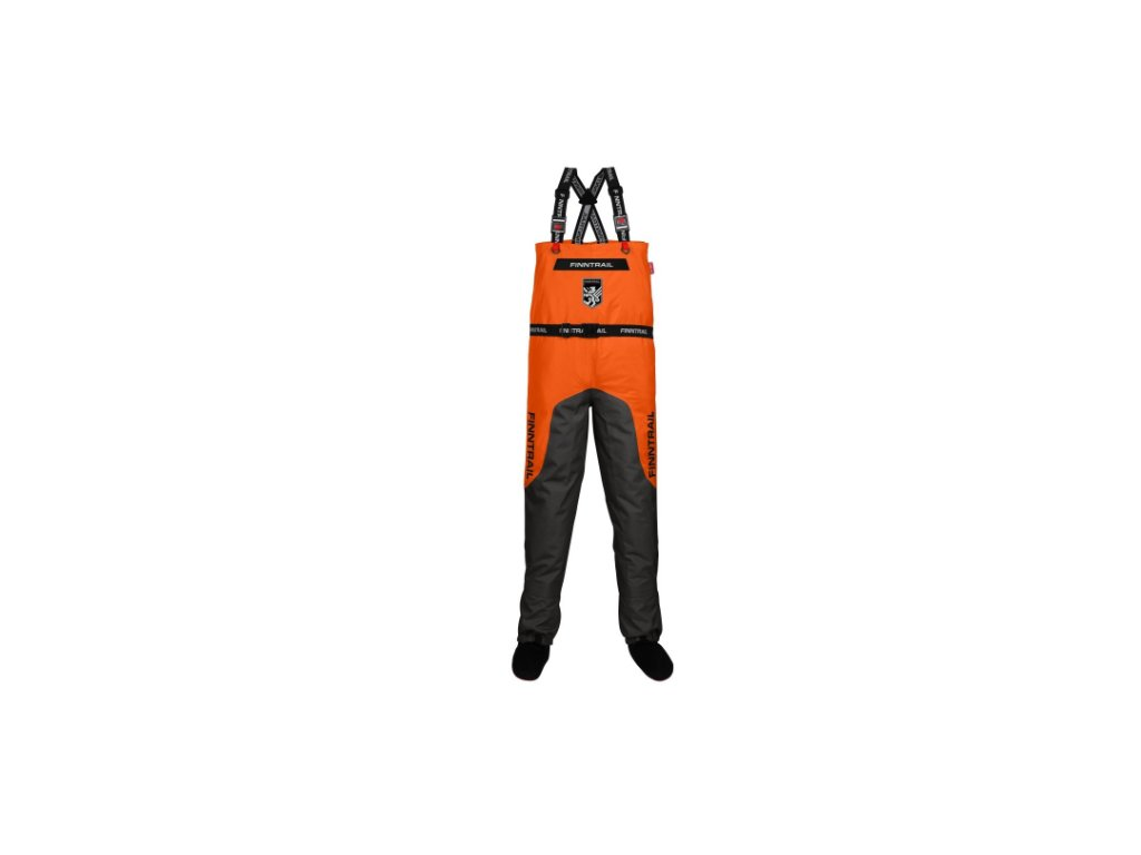 finntrail waders aquamaster orange kalhoty s ksandami