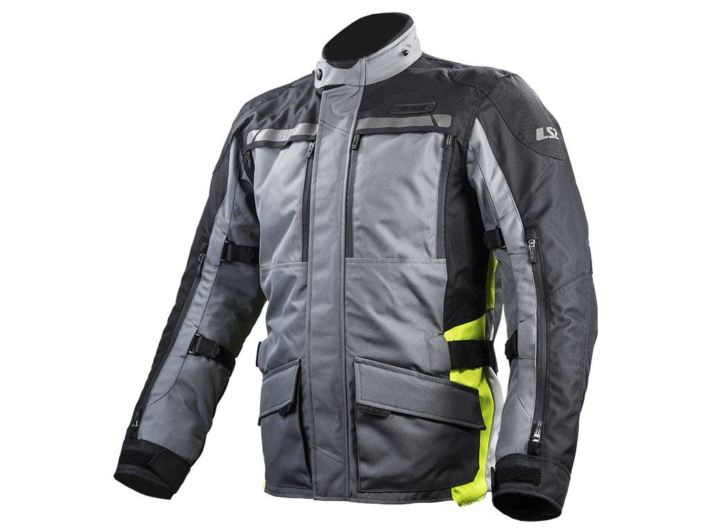 lance man jacket black dark grey fluo yellow 6200j5108
