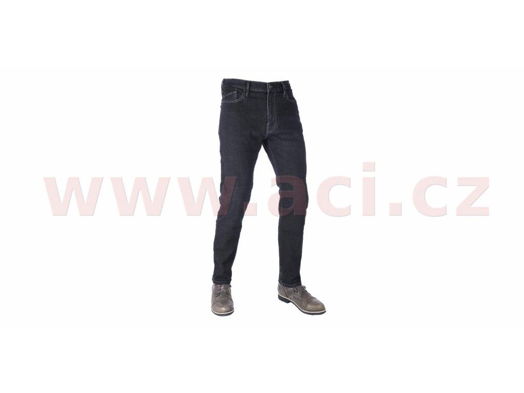 zkracene kalhoty original approved jeans slim fit oxford panske cerna i413356