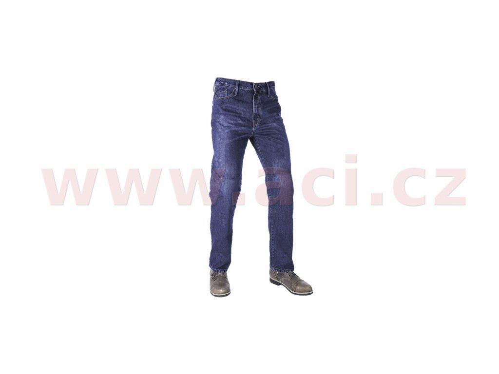 prodlouzene kalhoty original approved jeans volny strih oxford panske seprana modra i413476