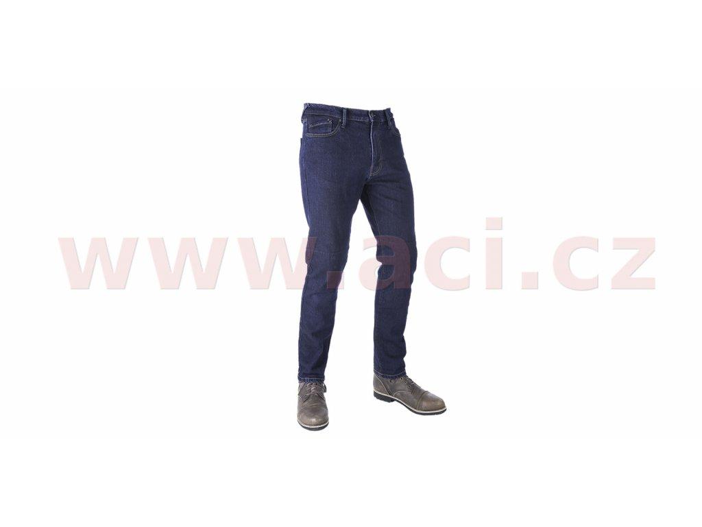 prodlouzene kalhoty original approved jeans slim fit oxford panske modra i413392