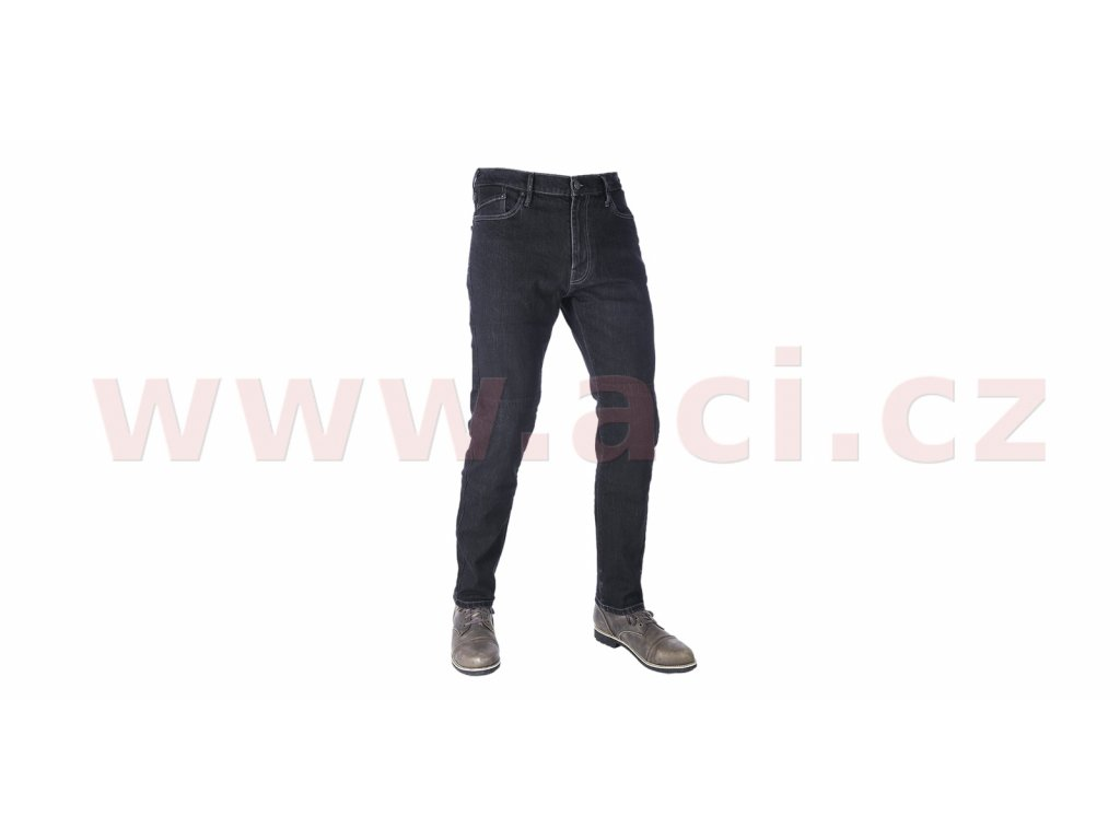 prodlouzene kalhoty original approved jeans slim fit oxford panske cerna i413371
