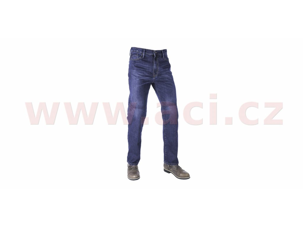 kalhoty original approved jeans slim fit oxford panske seprana modra i413406