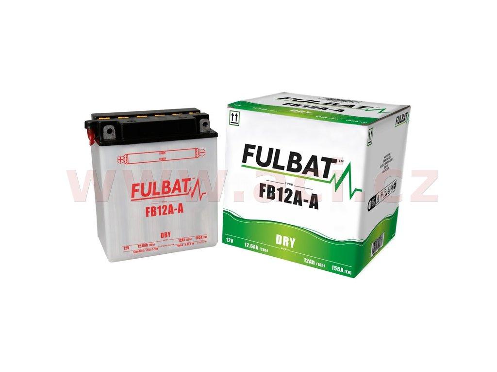 baterie 12v fb12a a m310 067 12ah 155a konvencni 134x80x160 fulbat vc baleni elektrolytu i138257