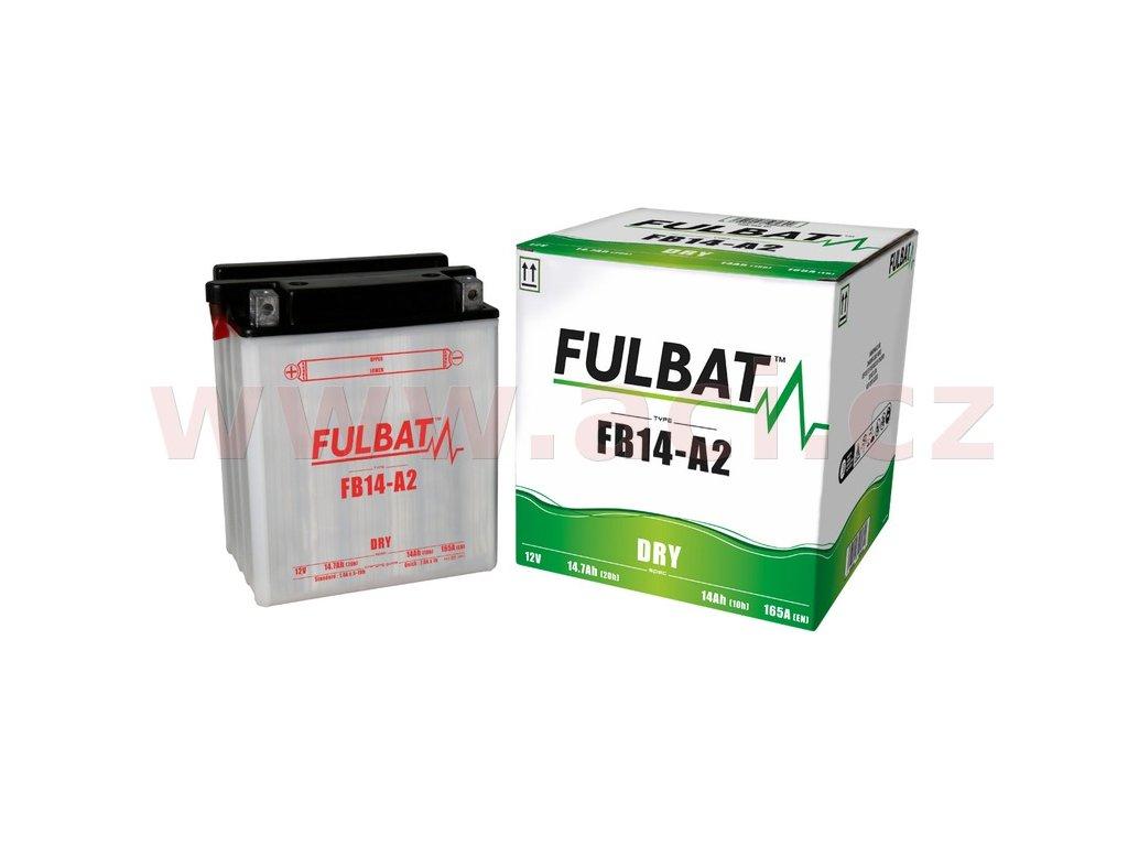baterie 12v fb14 a2 14ah 165a konvencni 134x89x166 fulbat vc baleni elektrolytu i138263
