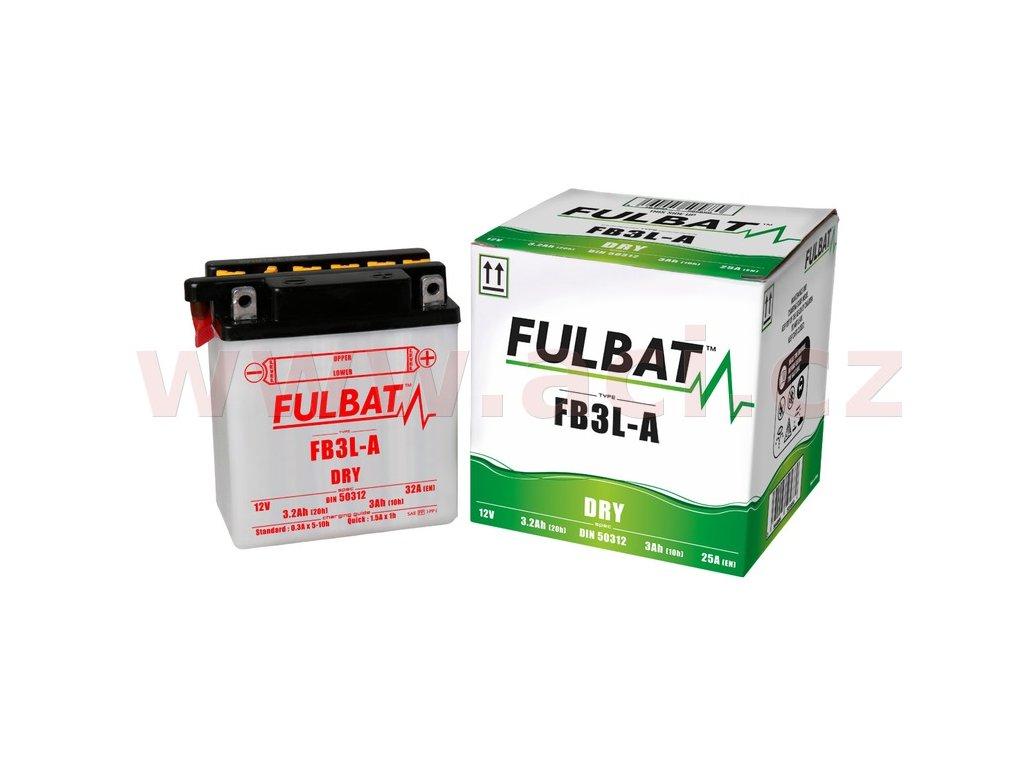baterie 12v fb3 l a 3 m310 089 2ah 25a konvencni 98x56x110 fulbat vc baleni elektrolytu i138279