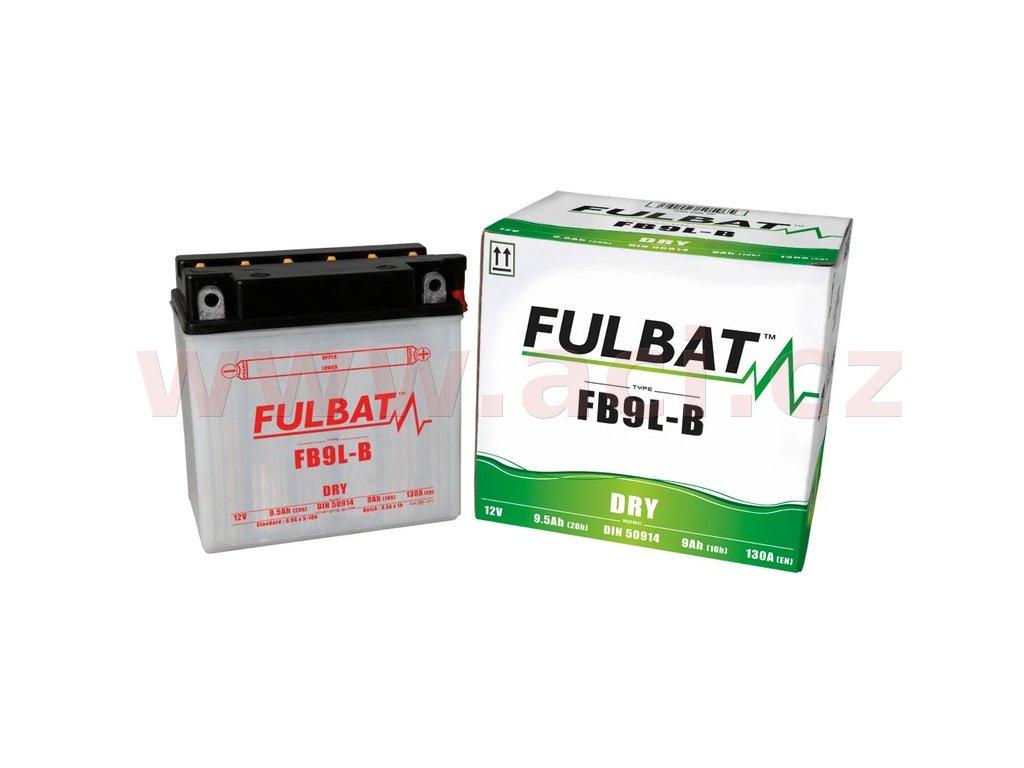 baterie m310 100 12v fb9 l b 9ah 130a konvencni 135x75x139 fulbat vc baleni elektrolytu i138290