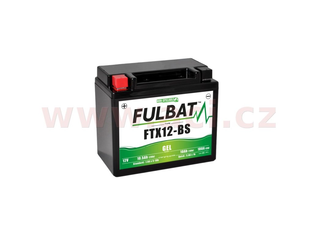 baterie 12v ftx12 bs gel 10ah m310 102 180a bezudrzbova gel technologie 150x87x130 fulbat aktivovana ve vyrobe i138292