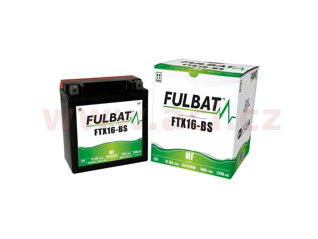baterie 12v ftx16 bs 14ah 230a bezudrzbova mf agm 150x87x161 fulbat vc baleni elektrolytu i138298