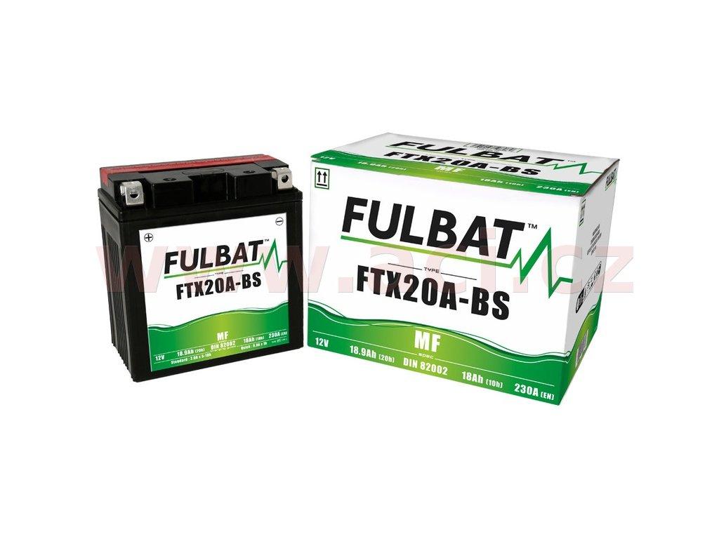 baterie 12v ftx20a bs 18ah 230a bezudrzbova mf agm 150x87x161 fulbat vc baleni elektrolytu i138301