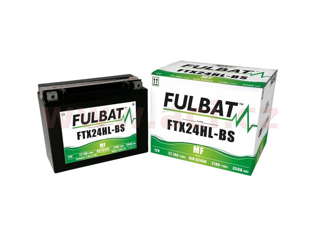 baterie 12v ftx24hl bs 22 1ah 350a bezudrzbova mf agm 205x87x161 fulbat vc baleni elektrolytu i138303