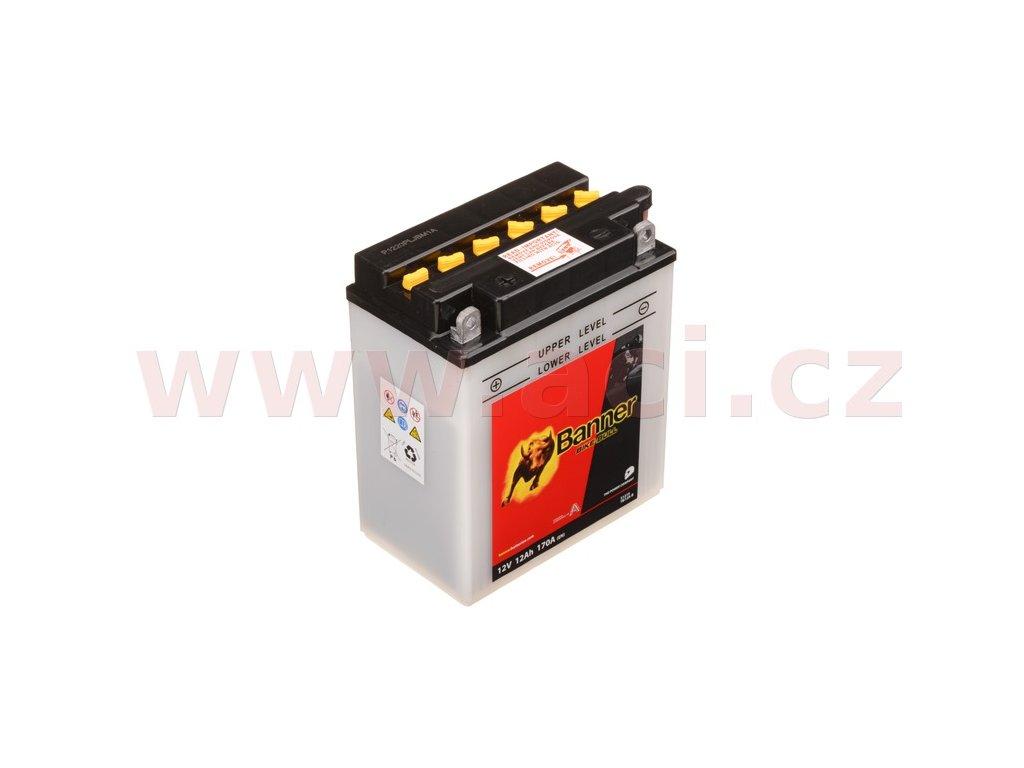 baterie 12v yb12a b 12ah 170a banner bike bull 134x80x160 i93520