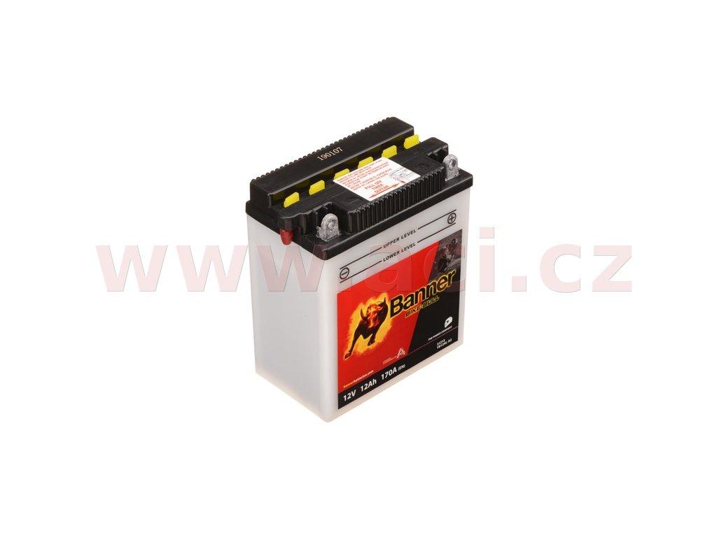 baterie 12v yb12al a2 12ah 170a banner bike bull 134x80x160 i93519