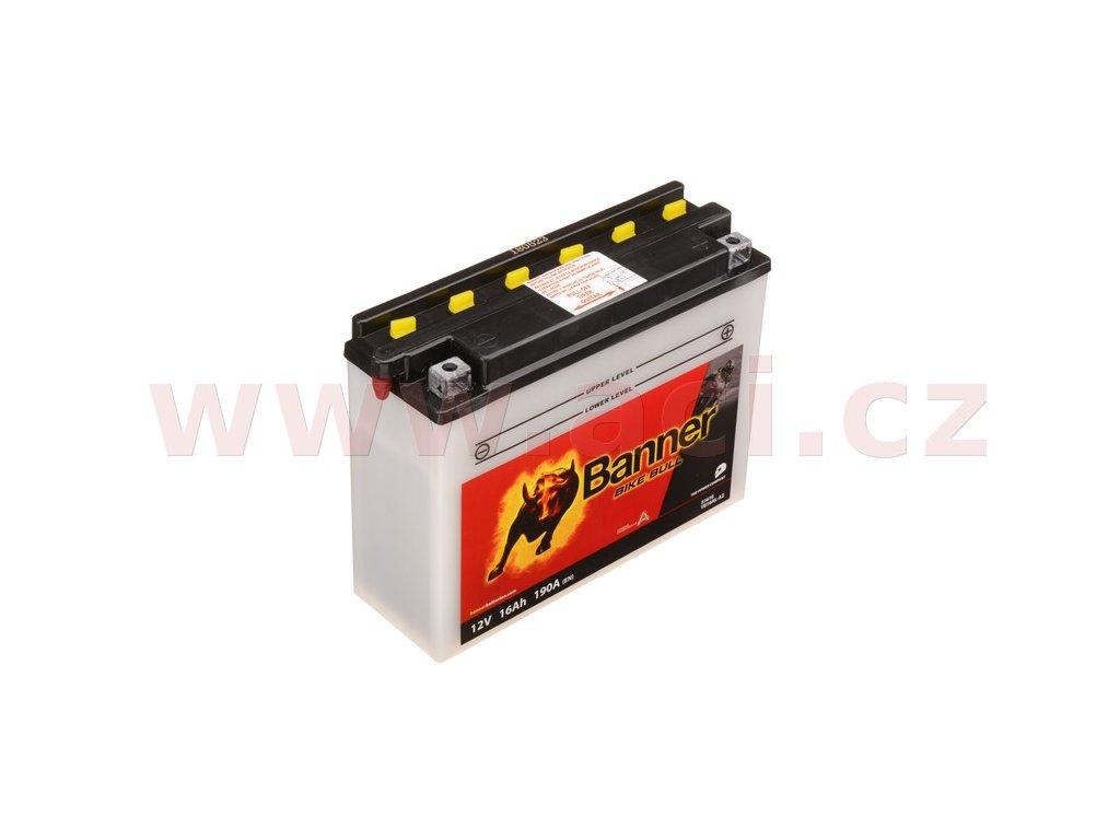 baterie 12v yb16al a2 16ah 190a banner bike bull 207x71x164 i93526