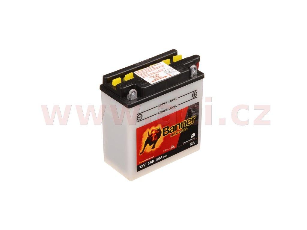 baterie 12v yb5 l b 5ah 50a banner bike bull 120x60x130 i93511