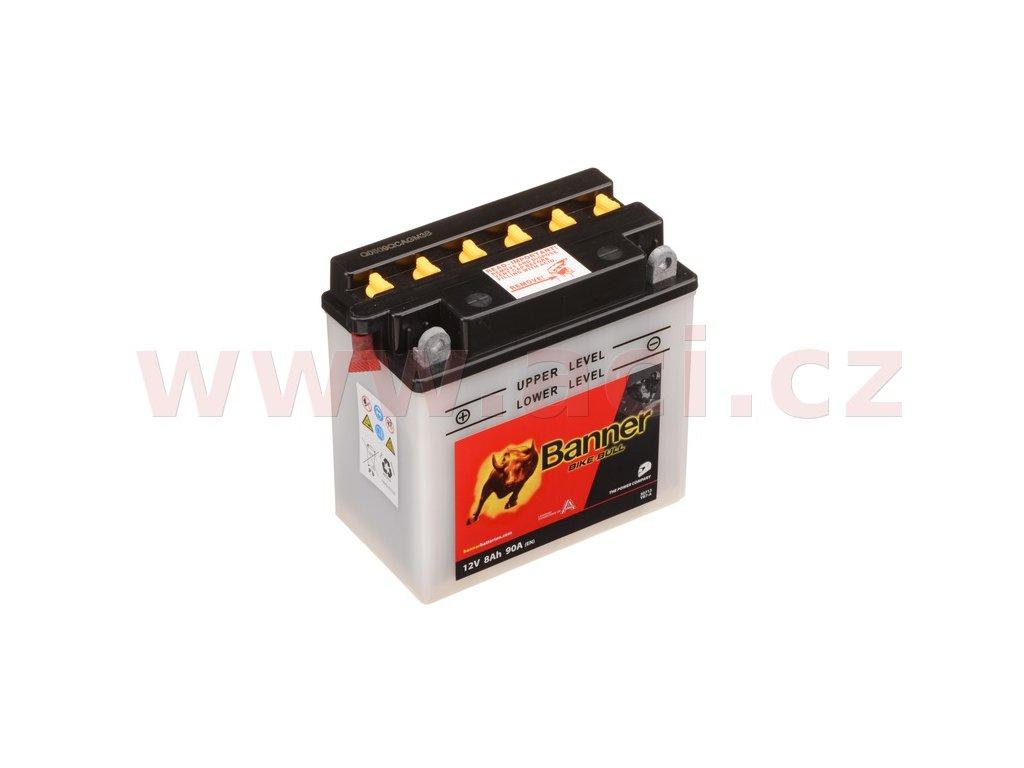 baterie 12v yb7 a 8ah 90a banner bike bull 135 145 x75x133 i93513