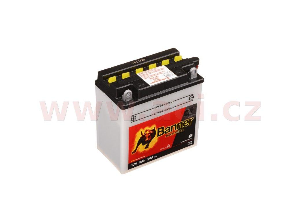 baterie 12v yb9 b 9ah 90a banner bike bull 135x75x139 i93515