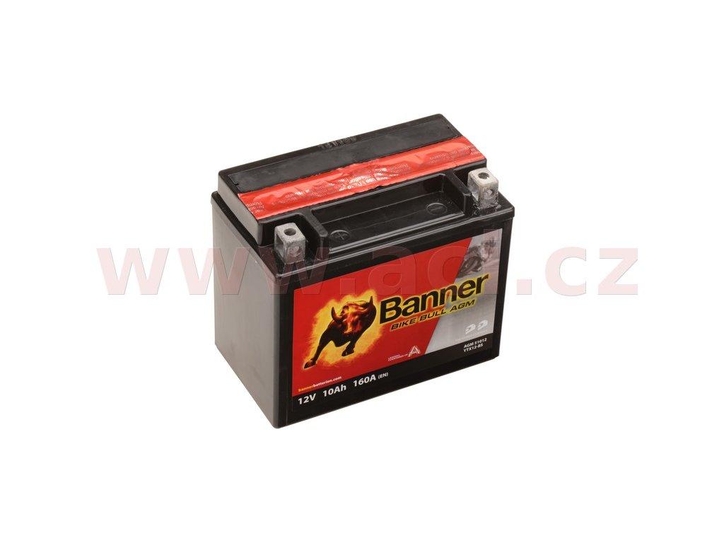 baterie 12v ytx12 bs 10ah 160a banner bike bull agm 150x87x131 i93539