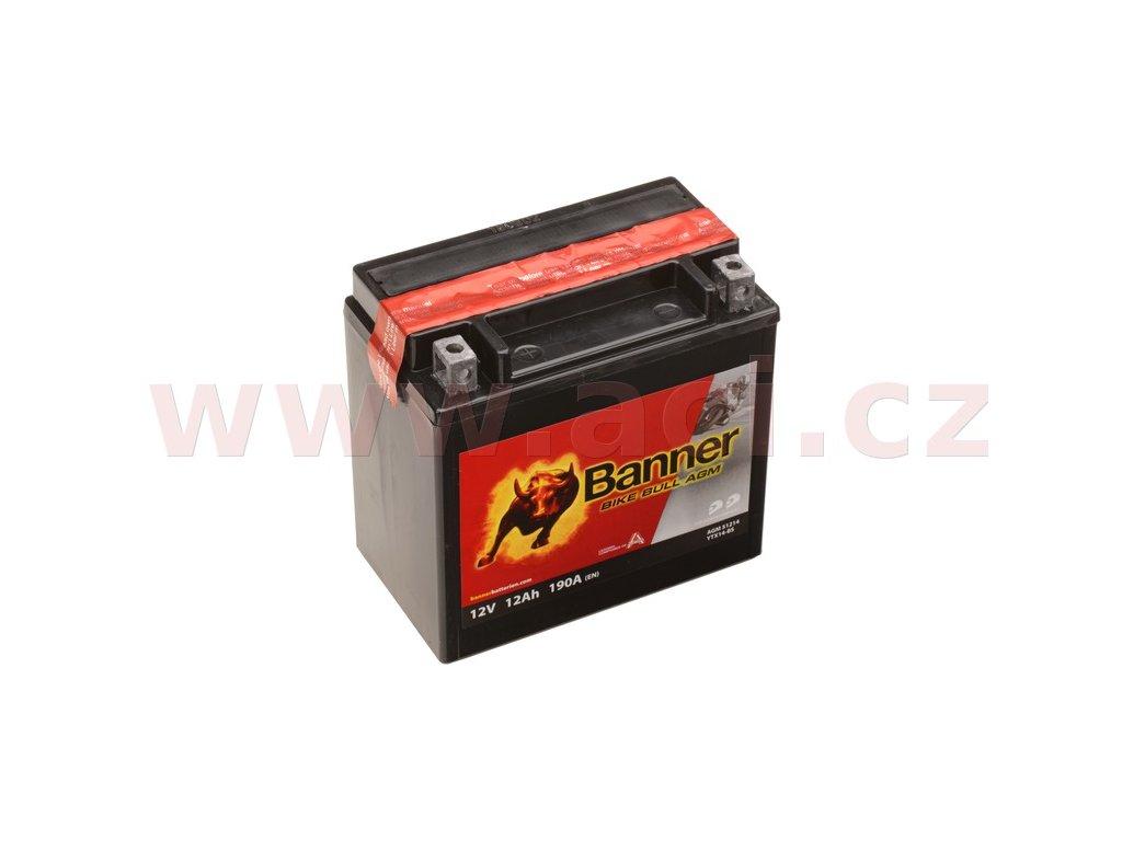 baterie 12v ytx14 bs 12ah 190a banner bike bull agm 150x87x147 i93540