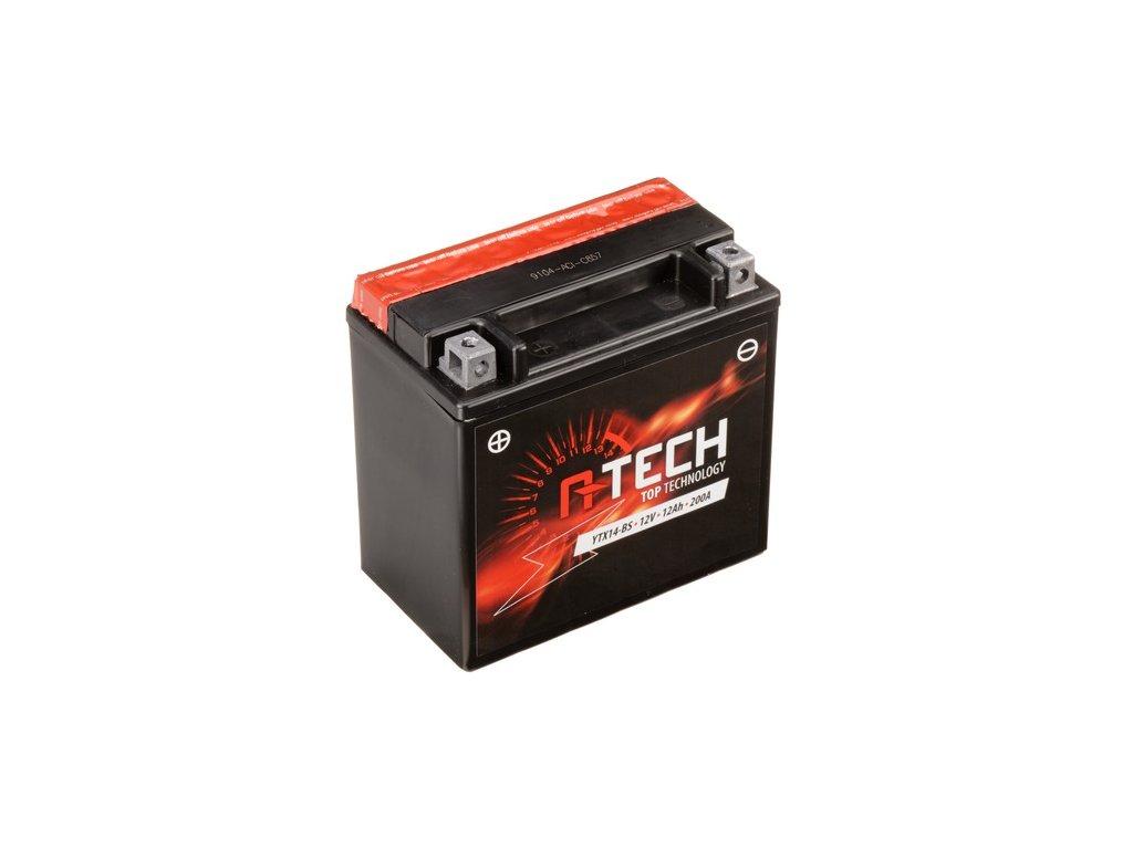 baterie 12v ytx14 bs 12ah 200a bezudrzbova mf agm 150x87x145 a tech vc baleni elektrolytu i138295