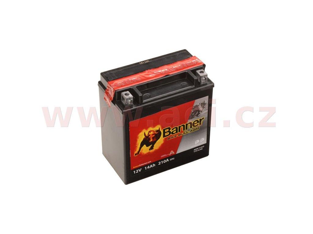 baterie 12v ytx16 bs 14ah 210a banner bike bull agm 150x87x161 i93542