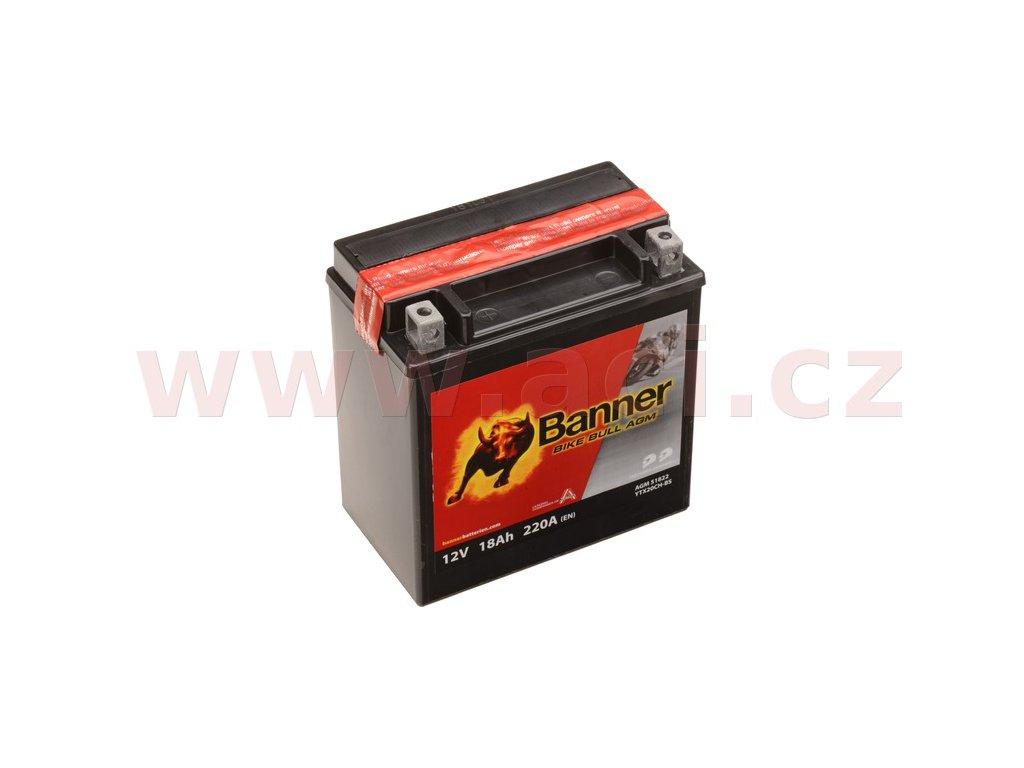 baterie 12v ytx20ch bs 18ah 220a banner bike bull agm 150x87x161 i114885