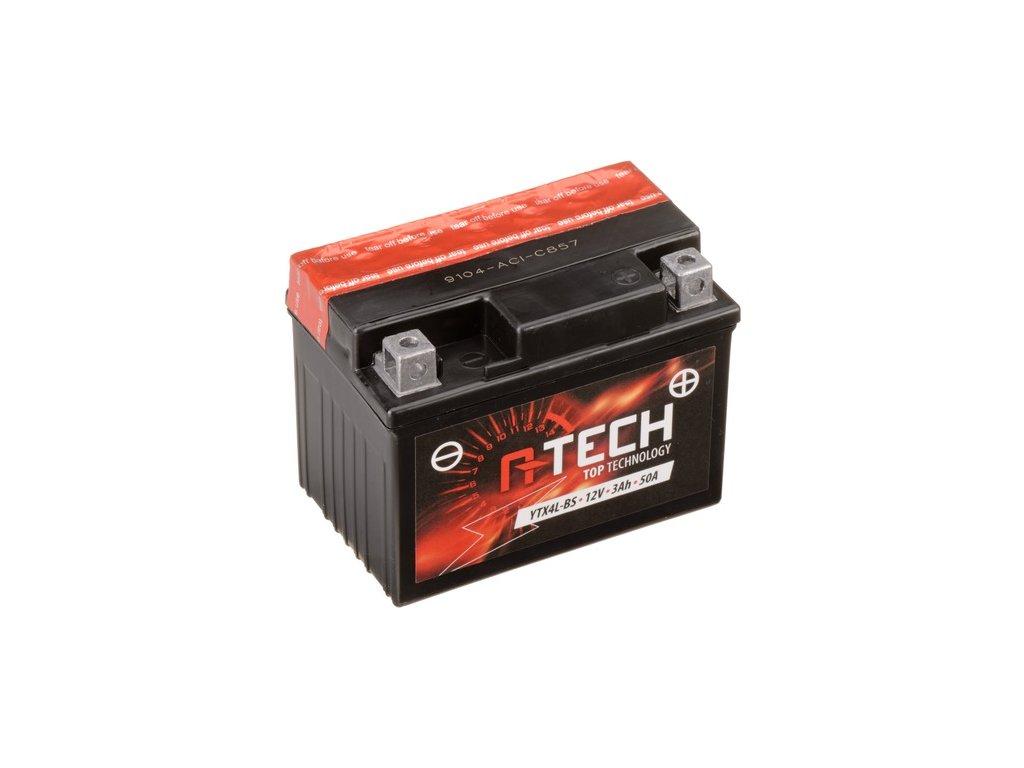 baterie 12v ytx4l bs 3ah 50a bezudrzbova mf agm 114x71x86 a tech vc baleni elektrolytu i138304