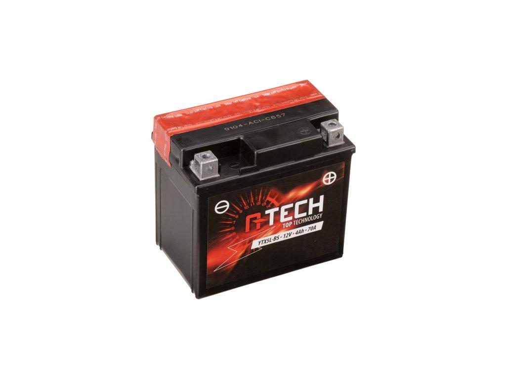 baterie 12v ytx5l bs 4ah 70a bezudrzbova mf agm 114x71x106 a tech vc baleni elektrolytu i138305