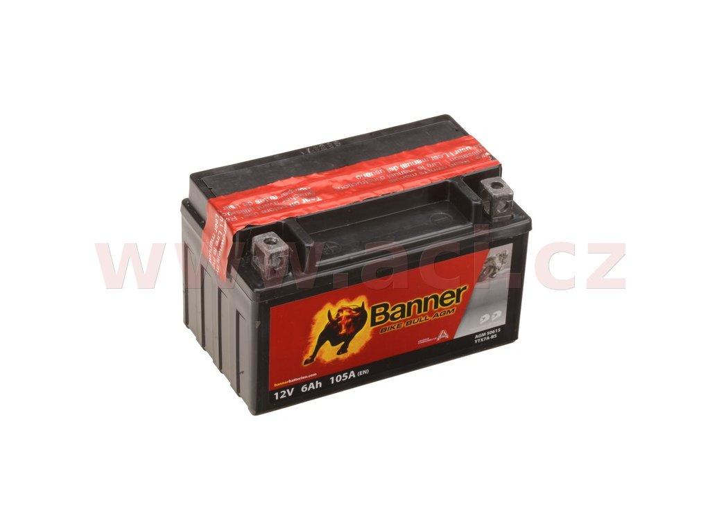 baterie 12v ytx7a bs 6ah 105a banner bike bull agm 150x87x95 i93537