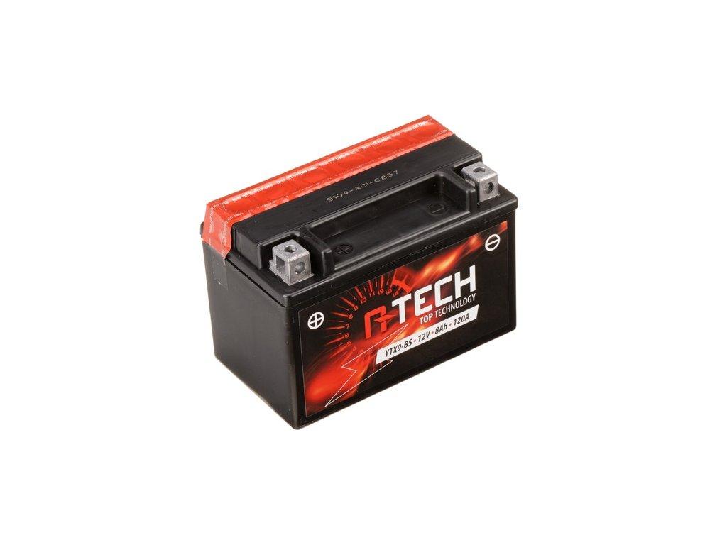 baterie 12v ytx9 bs 8ah m310 119 120a bezudrzbova mf agm 150x87x105 a tech vc baleni elektrolytu i138309