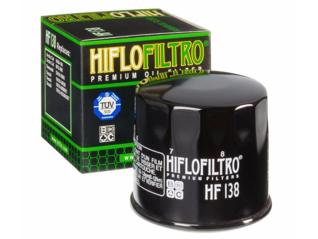 olejovy filtr oleje hf 138 do ctyrkolky motorky