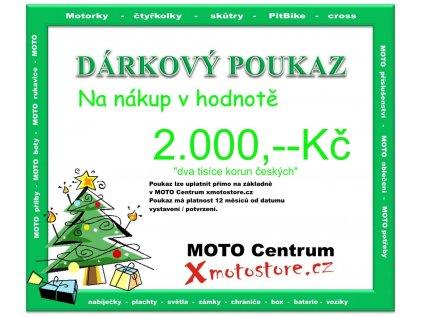 poukaz dva tisice darek pro motorkare dedu moto