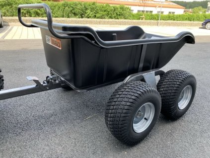 shark atv trailer garden 550 black 4 wheel vlek vozik