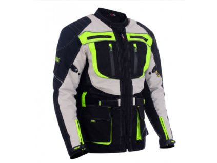 dax bunda textile long jackets made of maxdura with lining protectors green