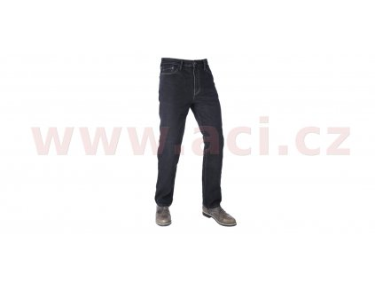 zkracene kalhoty original approved jeans volny strih oxford panske cerna i413420