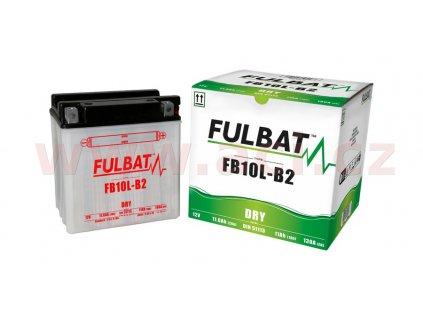 baterie 12v fb10 l a2 11ah 130a konvencni 135x90x145 fulbat vc baleni elektrolytu i138254