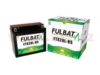baterie 12v ftx20 l bs m310 112 18ah 270a bezudrzbova mf agm 175x87x155 fulbat aktivovana ve vyrobe i138302