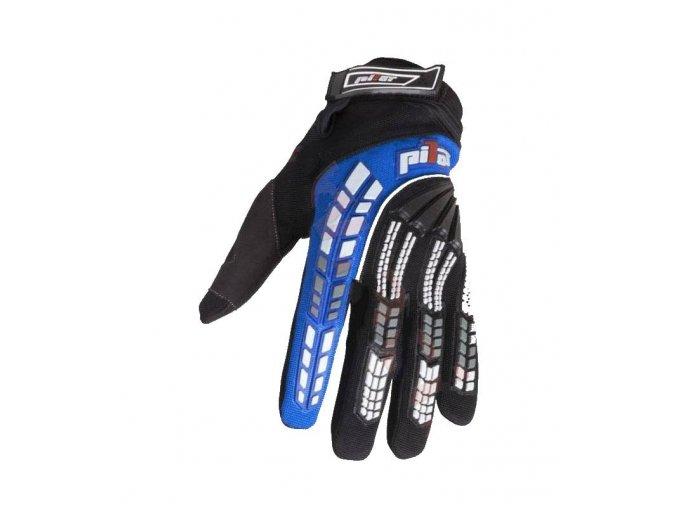 rukavice pioneer pilot cerna modralevne kvalitni