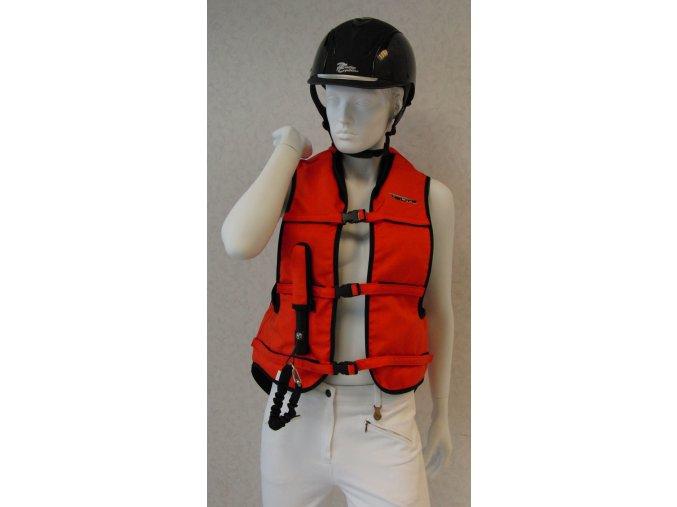 helite air vesta oranzova damska panska detska airbag na kone jezdedecky