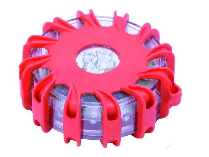 nouzové výstražné světlo 115mm s magnetem, 9 variant blikání