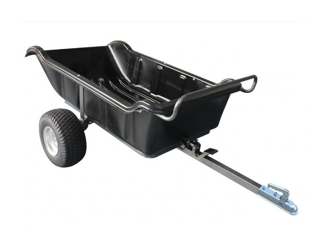 shark atv trailer garden 680 black 2 wheel vlek vozik