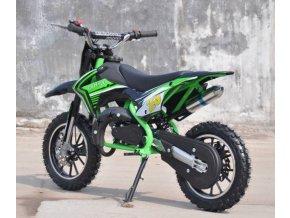minicross gazelle deluxe 49cc 2t 50 detska motorka mala levna kvalitni se zarukou pribram zelena
