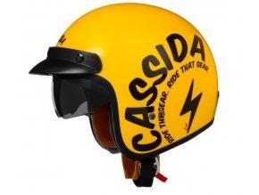 prilba oxygen gear cassida helma ceska zluta cerna retro na skut chopper