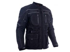 dax textile long jackets made of maxdura with lining protectors bunda black