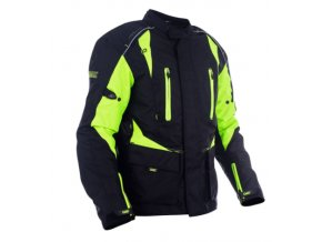 dax textile long jackets made of maxdura with lining protectors with hydro bag b neon bunda