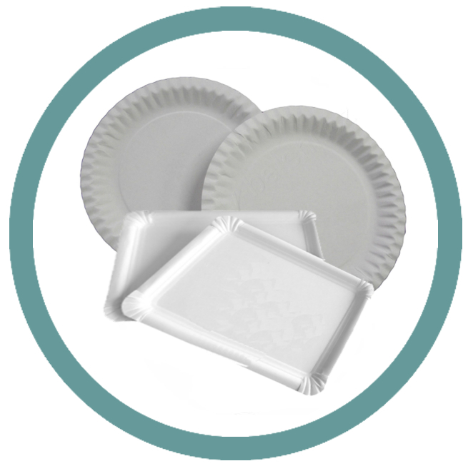 Papírové talíře, tácky