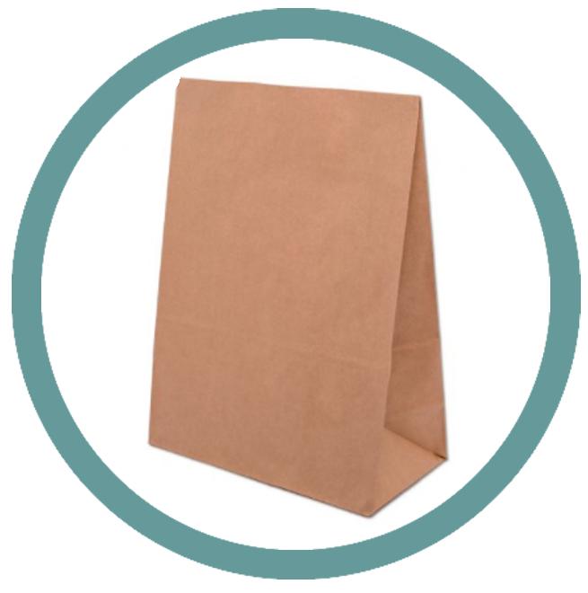 Papírové tašky bez uší