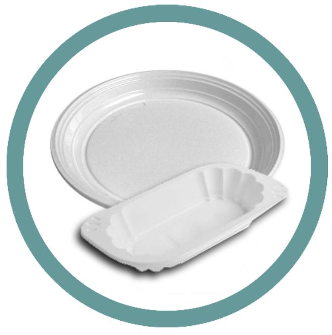 Plastové a papírové talíře a misky
