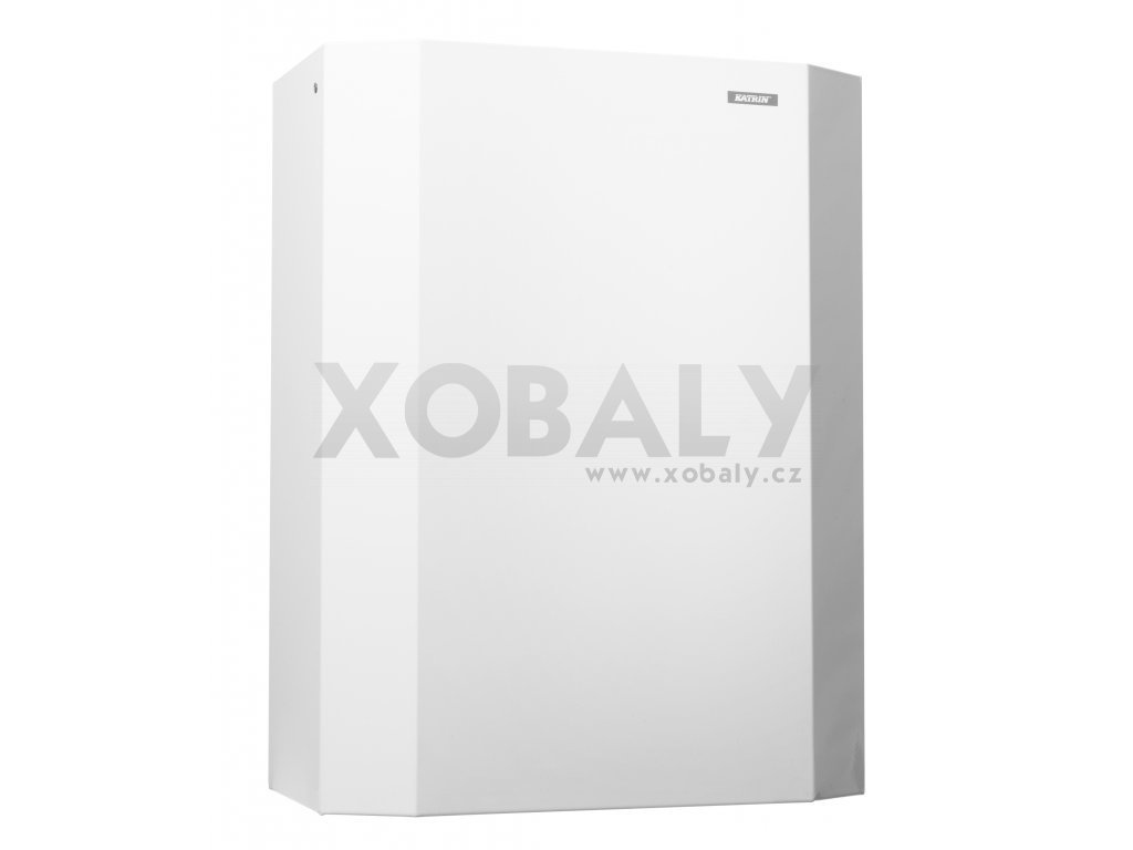 Koš na papírové ručníky KATRIN bílý kov - 900788