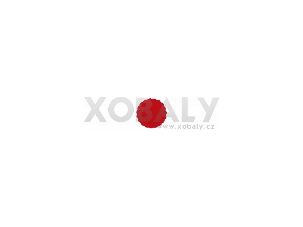 Rozetky papírové 9cm červené (cena za 500ks) - 36.0033